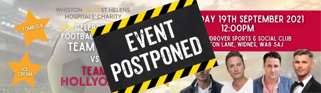 Bannerf or celebrity football match featuring Hollyoaks cast members - event postponed
